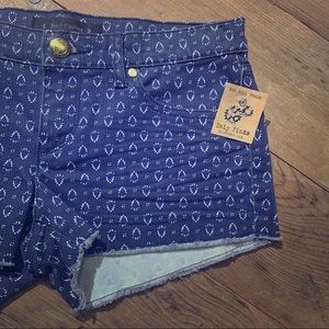 NEW Juicy Couture Blue Printed Shorts